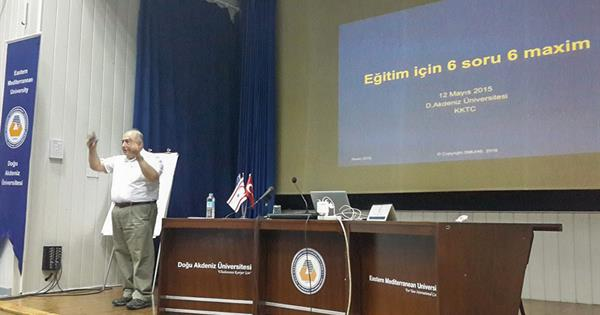 EMU Education Faculty Hosted M. Tınaz Titiz